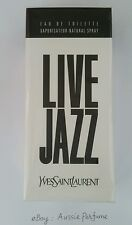Live Jazz Yves Saint Laurent 100ml/ 3.3oz EDT Spray Mens Perfume Free Shipping