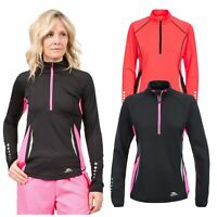 Trespass Womens Long Sleeve 1/2 Zip Pullover Gym Top Active Workout Persin