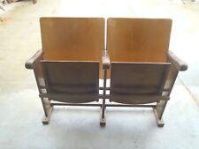 Lotto di 2  sedie da cinema Anno 1953 seduta reclinabile smontate