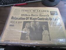 VINTAGE - THE TIMES LEADER  7/15/72 - RELAXATION OF WAGE CONTROLS ORDERED