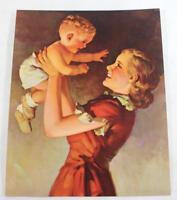 "Rare ""Up She Goes"" by R.J.Stuart Salesman Sample Calendar Litho Print"