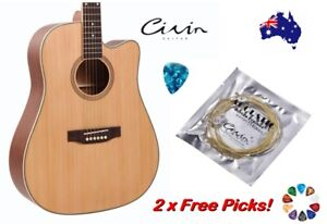 Acoustic Guitar Strings With 2 Free Picks Steel Civin Premium Light Universal