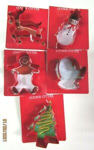 COOKIE CUTTERS..LOT OF 5.. CHRISTMAS DESIGNS