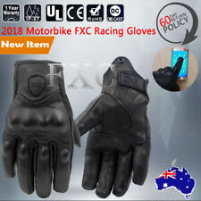 SHORT PREMIUM LEATHER PROTECTIVE MOTORCYCLE MOTORBIKE GLOVES TACTICAL KNUCKLE -M