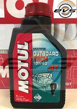 2 Litri Olio Nautica Motul Outboard Tech 10W40 4 tempi x Motori Fuoribordo FC-W