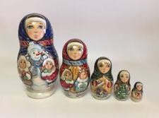 Russian Matryoshka Russian Wooden Nesting Dolls - 5 pieces #17