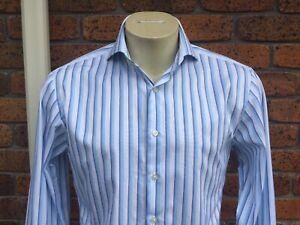 Thomas Pink Mens Dress Shirt 15/38/M.  Slim Fit