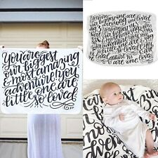 NEW LOT OF 2 Baby infant blanket UNISEX Black White Boy Girl Swaddle Twin Number