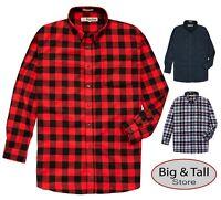 Foxfire Big & Tall Men's 100% Cotton Flannel Plaid Shirt 2XL- 6XL 2XLT – 6XLT