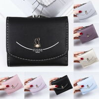 GIFT Ladies Women's Mini Wallet  Lock ID Card Holder Bag Short Coin Purse