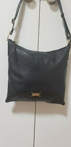 WOMEN  COCCINELLE BLACK BAG , REAL LEATHER, PURCHASED IN ITALY