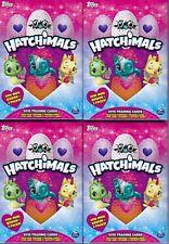(4) 2018 Topps HATCHIMALS Trading Cards HANGER Box LOT = 1 Mini Album Per Box