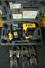 DeWalt DCE200 20v Copper Crimper with 6 Jaws Ridgid Nibco Propress Jaws