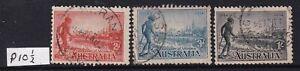 AUSTRALIA PRE-DECIMAL victoria centenary set perf 10 1/2 used