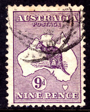 AUSTRALIA #9 9p PURPLE, 1913 PERF11½, F, CDS
