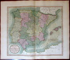 Spain Portugal in Kingdoms & Provinces 1811 John Cary lovely large old map