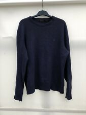 Polo Ralph Lauren Wool Jumper Navy With Logo Mens XL VGC og14