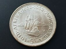SOUTH AFRICA 1952 GEORGE VI FOUNDING OF CAPETOWN SILVER 5 SHILLINGS CROWN UNC ?