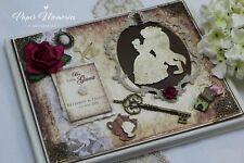 Vintage Boxed & Personalised Beauty & The Beast inspired Wedding Guest Book
