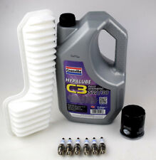 LEXUS IS200 Service Kit Filtre à Huile Filtre à air huile 5W30 6 X Bosch Bougies Sump Plug