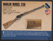 MARLIN MODEL 336 RIFLE Lever-Action Atlas Gun Classic Firearms PHOTO CARD