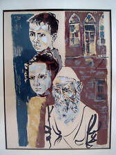 "MOSHE GAT - ""THE ISRAELIS"" - LITHO - SIGNED AND NUMBERED"