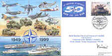 CC61 50th Anniversary NATO RAF FDC signed Army Field Marshal Lord Vincent DSO