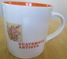 Starbucks Guatemala Antigua Mug 16 oz Latin America Orange White 2005