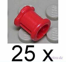 LEGO Technik - 25 STOPPER ROSSO Gross/Red Technic Bush/3713 Merce Nuova