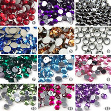 3000pcs New Nail Art 12-Color 2mm Round Rhinestones Glitter Gems Tips Decoration