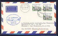 52390) LH FF München - San Francisco 28.3.99, Brief ab Polen