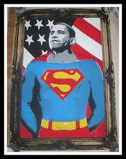 MR BRAINWASH OBAMA SUPERMAN GOLD S/N 2008 SCREEN PRINT #147/300 Shepard fairey