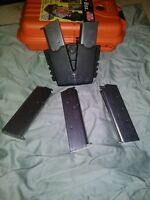 45 acp 7 round maazines and 2 magazine belt holder