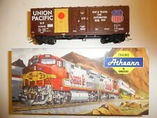 Athearn HO Model Train, 40' Grain loading Box Car, Union Pacific, BUILT, KADEES