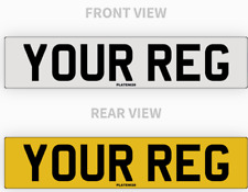 PAIR Car Number Plates 100% MOT Compliant UK Road Legal Registration Free Post