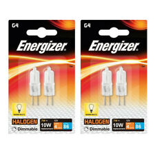4 x Energizer G4 Eco 10W Halogen Capsule Bulb 86 Lumens 12V Lamp Warm White