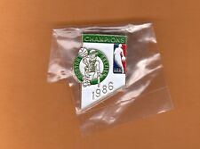 1986 NBA WORLD CHAMPIONS BOSTON CELTICS PIN UNSOLD STOCK Still in package