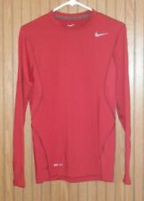Nike Men's Small Pro Combat Core Compression Long Sleeve Red shirt Dri-Fit