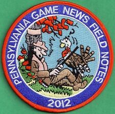 Pa Pennsylvania Game Fish Commission NEW - 2012 Pa Game News / Field Notes Patch