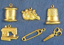 144pc Raw Brass Sewing Tailoring Crafting Charms 4236