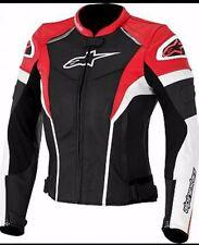 Unisex Alpinestar Motorcycle Racing Biker 100%Cowhide Leather Jacket CustomMade