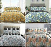 Winter & Christmas Print Duvet Quilt Cover Bedding Set Pillowcases All Sizes