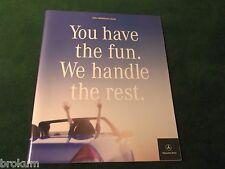 MINT 2001 MERCEDES BENZ SL600 S55 M CLASS SALES BROCHURE ORIGINAL (BOX 396)