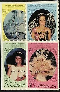 St. Vincent #1001-1004 MNH Specimen Carnival 1987 Miss Prima Donna
