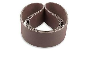 2 X 42 Inch 120 Grit Flexible Aluminum Oxide Multipurpose Sanding Belts, 6 Pack