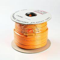RCA CABLE  HI–END 100 FT SPOOL HI-POWER PERFORMANCE DIRECTIONAL BALANCE ORANGE