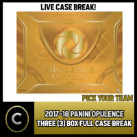 2017-18 PANINI OPULENCE BASKETBALL 3 BOX FULL CASE BREAK #B009 - PICK YOUR TEAM