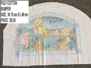 CHILDRENS POLY COTTON MATERIAL/FABRIC COT BUMPER W 75 X L 49 CM