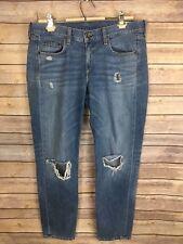 Rag And Bone Boyfriend Jeans Size 27 Distressed Denim Light Wash