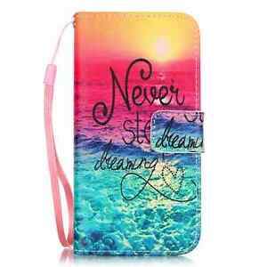 For iPhone 5/6/7/8/X Samsung Magnetic Wallet Flip Pattern PU Leather Cover Case
